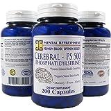 Mental Refreshment: Cerebral PS 500 mg, 200 Capsules; The Best Phosphatidylserine (1 Bottle)