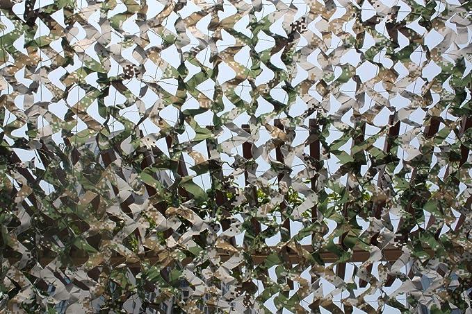 2X3M Wooden Camouflage Net Chasse Arm/ée Aveugle Couvertures De Voiture Auvent Tente Camping Camping Woodland Arm/ée Formation Sun Shelter Multi-Couleurs Huenco 6.5 x10 Bleu//Blanc//Bois//Vert