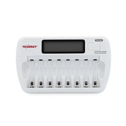 Amazon.com: Tenergy tn162 8-Bay Smart LCD AA/AAA de NiMH ...