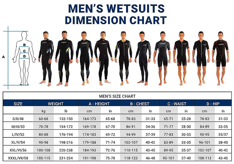 Cressi Diver Man Monpiece Wetsuit 7mm Traje de Buceo, Hombre ...