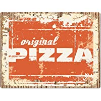 "Original Pizza Chic Sign Rustic Shabby Vintage Style Retro Kitchen Bar Pub Coffee Shop Wall Decor 9""x12"" Metal Plate Sign Home Store Decor Plaques 0939"