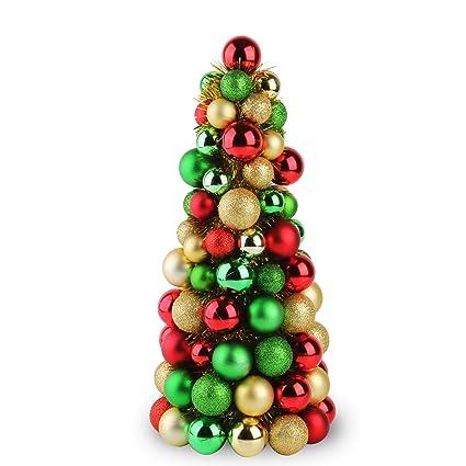 Jusdreen Christmas Ball Ornaments Tree Shatterproof Christmas Decorations Tree  Balls (Green/Gold/Red - Amazon.com: Jusdreen Christmas Ball Ornaments Tree Shatterproof