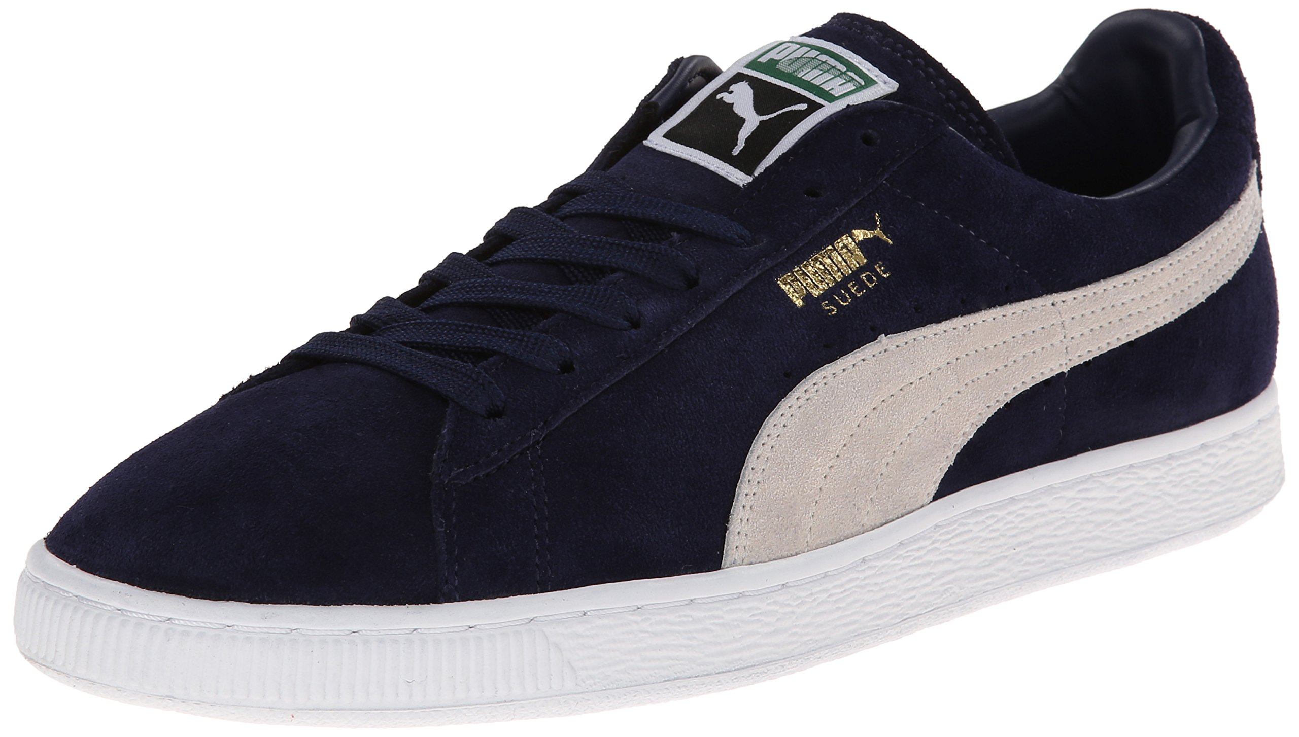 PUMA Men's Suede Classic + Sneaker, Peacoat/White, 12 M US by PUMA