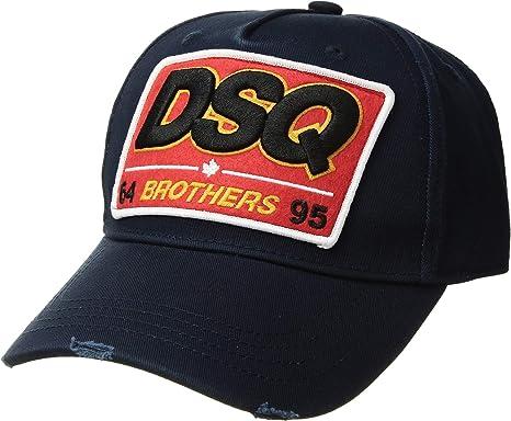 b2496895c Amazon.com: DSQUARED2 Men's Brothers Baseball Cap Navy One Size ...