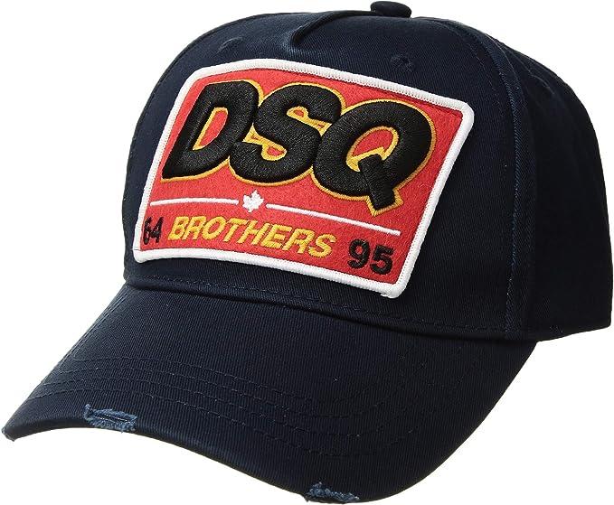 e5e96e6a85d Amazon.com  DSQUARED2 Men s Brothers Baseball Cap Navy One Size ...
