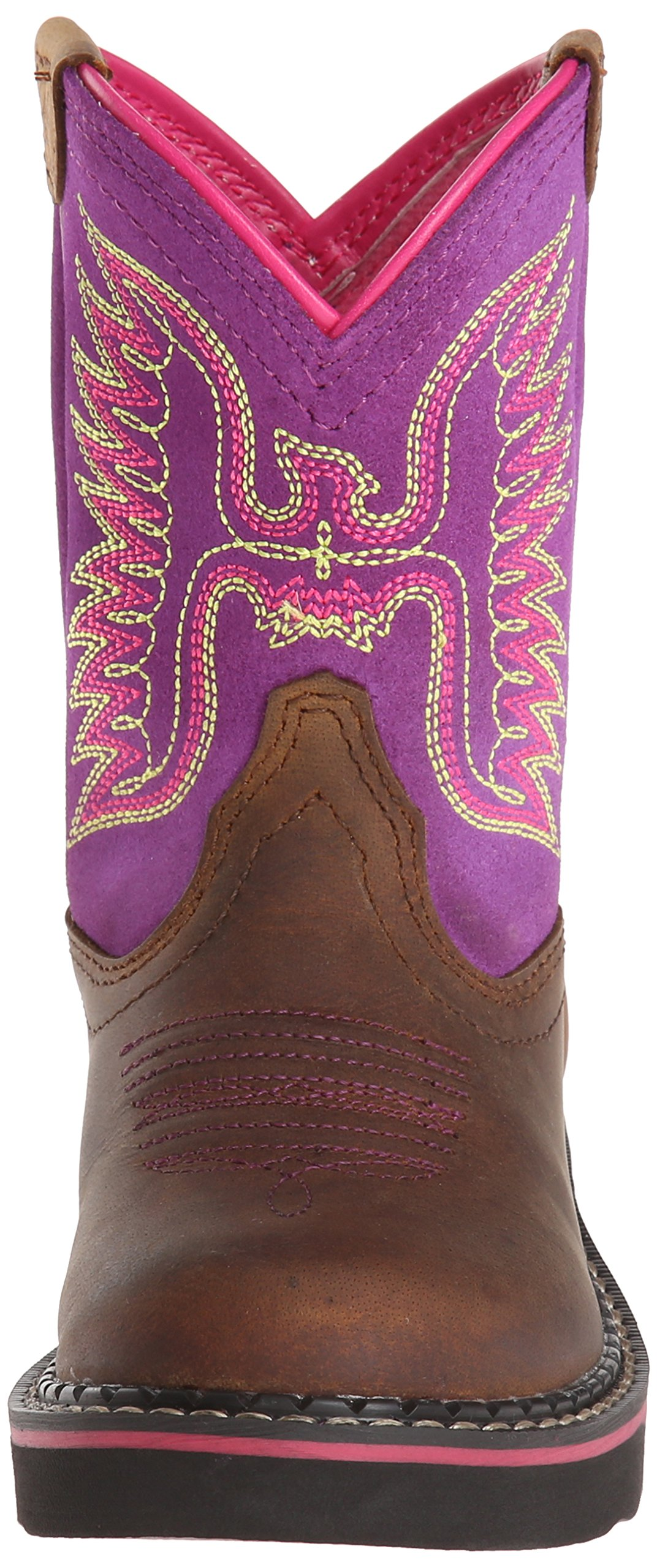 Kids' Fatbaby Thunderbird Western Cowboy Boot, Powder Brown/Amethyst, 12.5 M US Little Kid by ARIAT (Image #4)