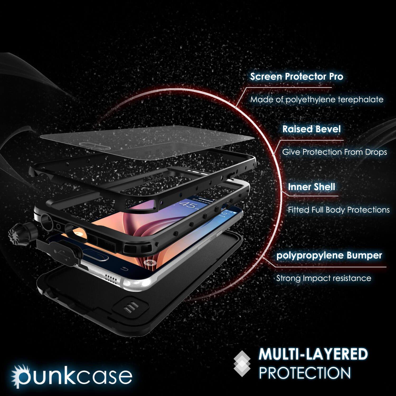 Galaxy S6 Waterproof Case Punkcase Studstar Black Lifeproof Samsung Fre 77 51242 Thin Fit 66ft Underwater Ip68 Shockproof Dirtproof Snowproof