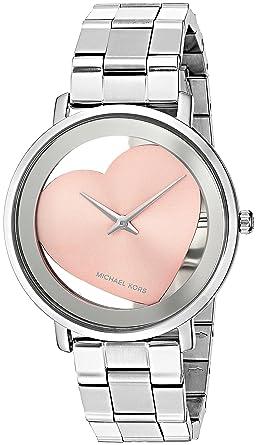 9fadeaf6c453 Amazon.com  Michael Kors Women s Jaryn Silver-Tone Watch MK3620  Watches