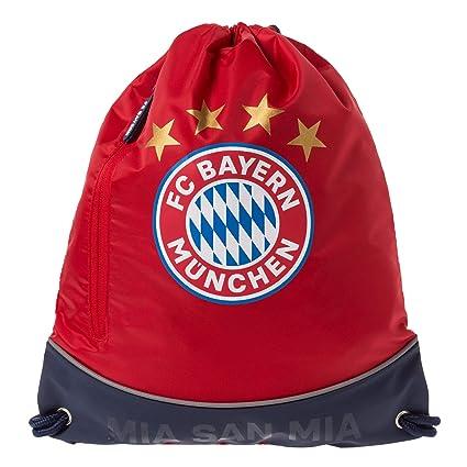 Blau//Rot Fanartikel Federmappe mit Bayern M/ünchen Logo FC Bayern M/ünchen Federtasche Mia San Mia FCB M/äppchen f/ür Schulkinder