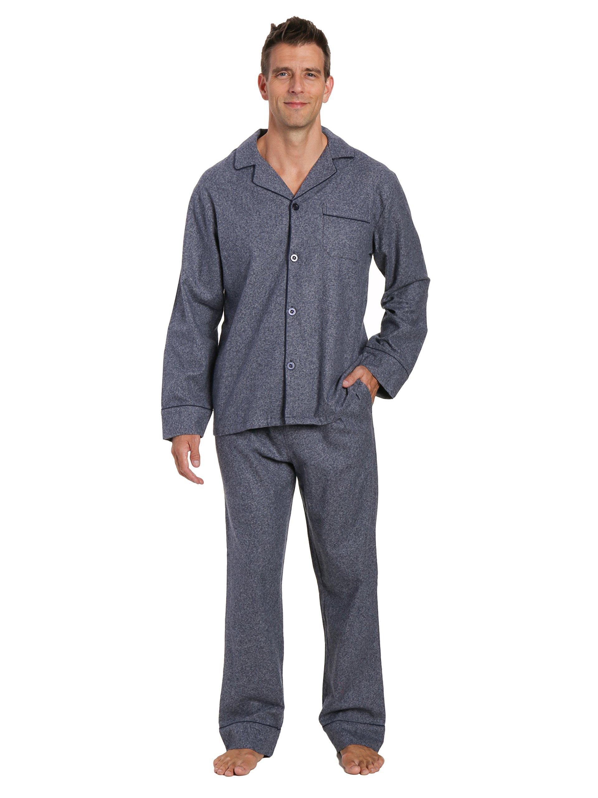 Men's Premium Flannel Pajama Set - Dark Blue - Medium by Noble Mount
