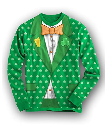 162ab172a Saint Patricks Day Tuxedo T Shirt All Over Print Funny St Paddy Shirts Irish  Tee (