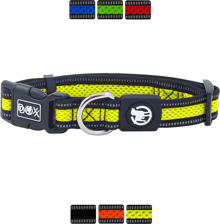 DDOXX Collar Perro Air Mesh, Ajustable, Reflectante, Acolchado ...