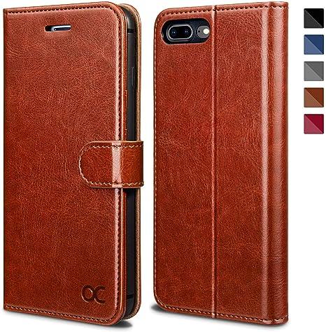 Apple iPhone 8 Plus Case Custodia Pelle Flip Portafoglio Carta