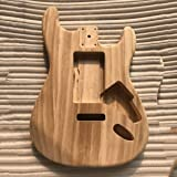 Tellaboull Cuerpo de Guitarra de Bricolaje sin terminar Cuerpo de Arce para Guitarra Estilo Fender ST