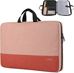 Laptop Sleeve Case, 13.3 inch TSA Slim Laptop Case Cover, Durable Business Briefcase Handle Bag Water Resistant Laptop Case for 13-13.3 inch MacBook Pro, MacBook Air, HP Dell Lenovo Notebook, Pink