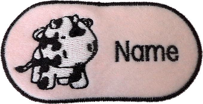 Animales bebé con bordado personalizable, color rosa, tamaño aprox ...