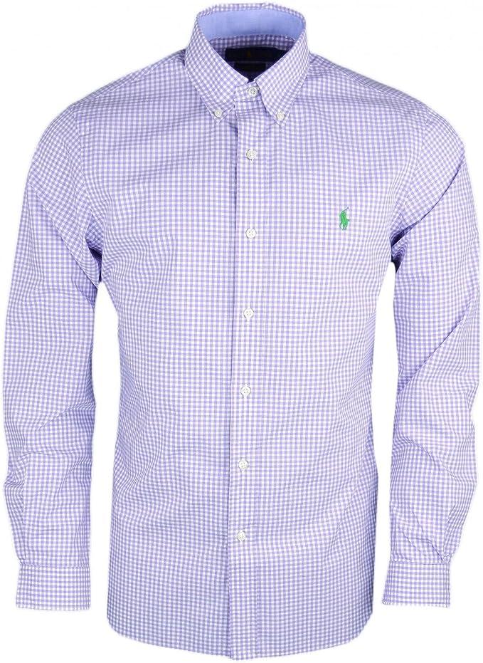 Ralph Lauren 7106958890 Camisa Hombre Blanco y Morado XL ...