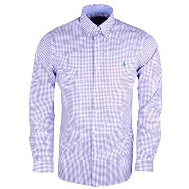 Polo Ralph Lauren OXFORD SLIM FIT - Chemise - lavender/withe vaa5zFL