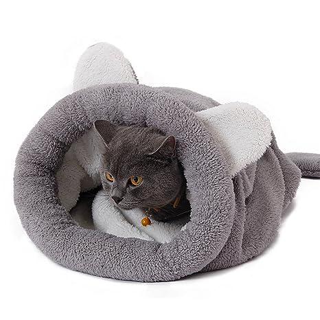 Leosi - Saco de dormir para gato o cachorro (semiduro revestido, resistente al viento