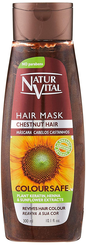 Colouring Hair Mask - Repairs and Colours - 300 Ml/Natural & Organic. (Chestnut Hair)