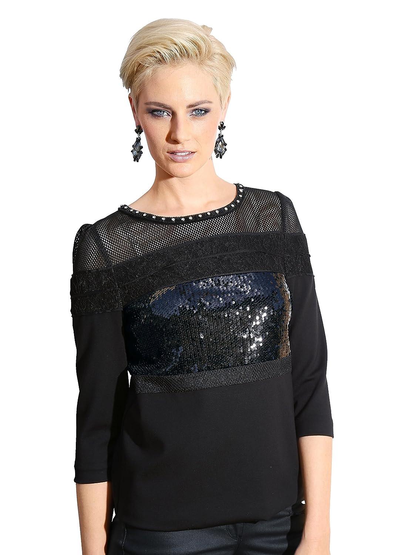 Amy Vermont Damen Sweatshirt mit Aufwendiger Dekoration