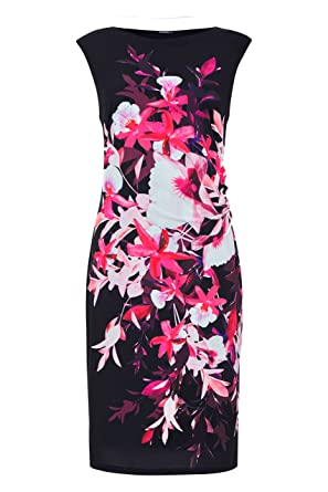 Roman Originals Women s Floral Print Jersey Dress - 20  Amazon.co.uk ... 9e11c615b