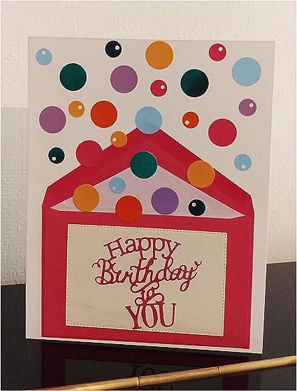 Carte D Anniversaire Confettis Carte Jet De Confettis Carte Anniversaire Enfant Garcon Fille Homme Femme Copain Copine Amazon Fr Fournitures De Bureau