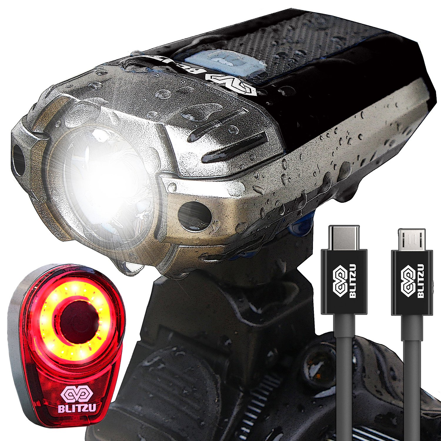 BLITZU Gator 390 USB Rechargeable LED Bike Light Set Bicycle Headlight Front u0026 FREE Rear Back Tail Light. Waterproof Easy To Install for Kids Men Women ...  sc 1 st  Amazon.com & Best Rated in Bike Lighting Parts u0026 Accessories u0026 Helpful Customer ...