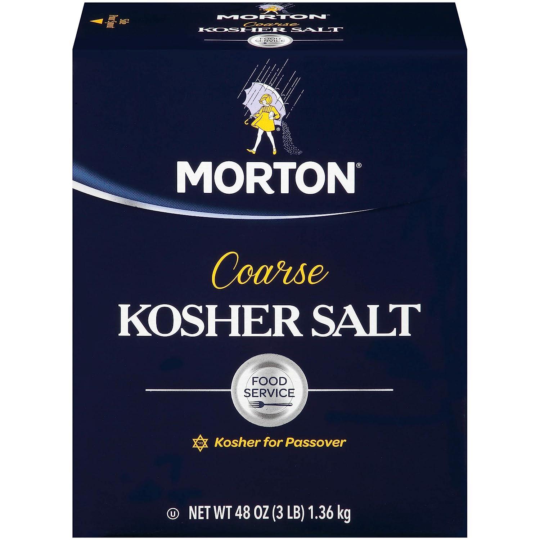 Morton Salt Morton Kosher Salt, Coarse, Food Service, Sea Salt, 48 Ounce
