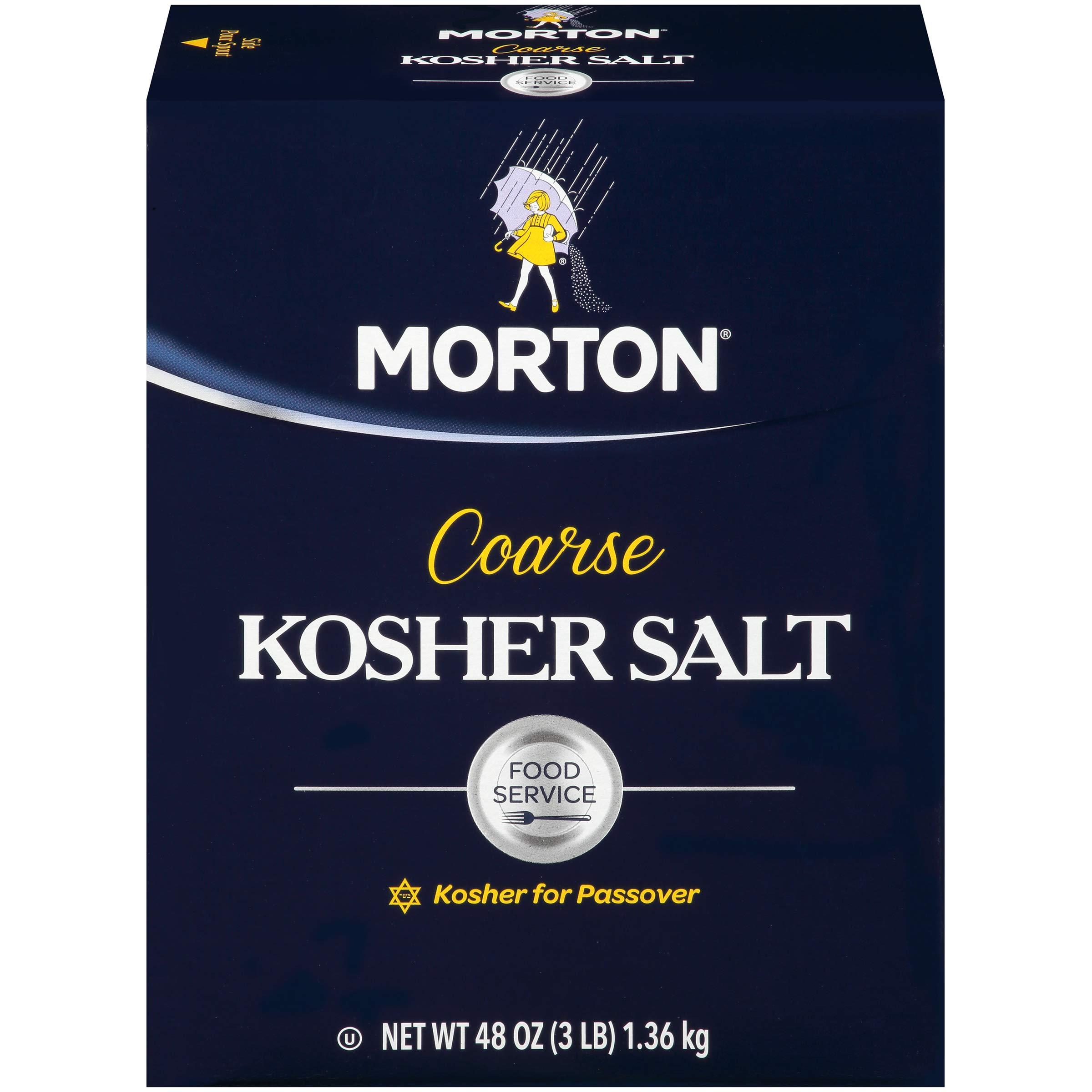 Morton Coarse Kosher Salt, 3 Pound by Morton