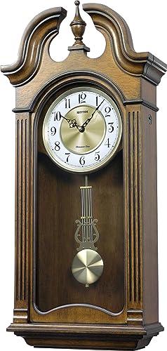 Rhythm Clocks Tiara II Wooden Musical Mantel Clock
