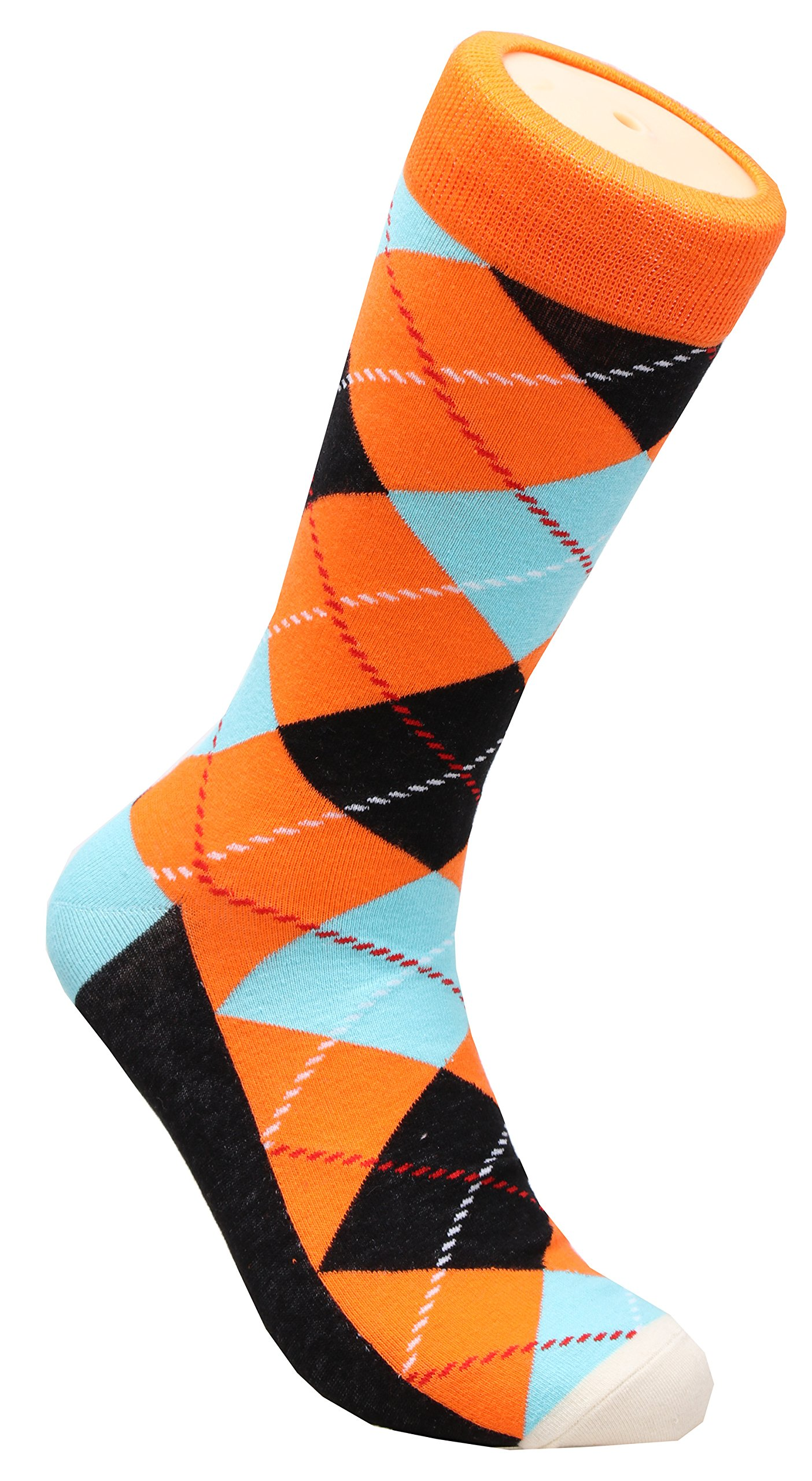 Galsang 4 Pack Cotton Argyle Business Trouser Dress Socks For Men Size 6-13 A301 (mixed color) by GALSANG (Image #5)