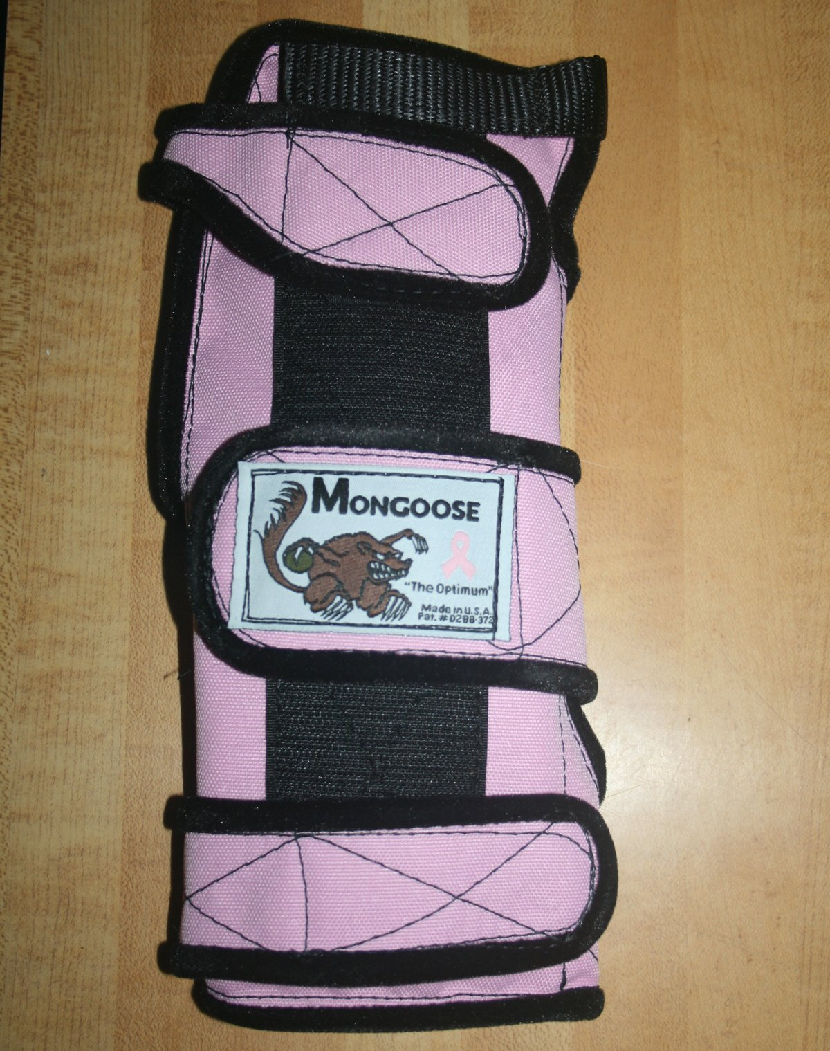 Mongoose ''Optimum Bowling Wrist Support Right Hand, Medium, Pink by Mongoose