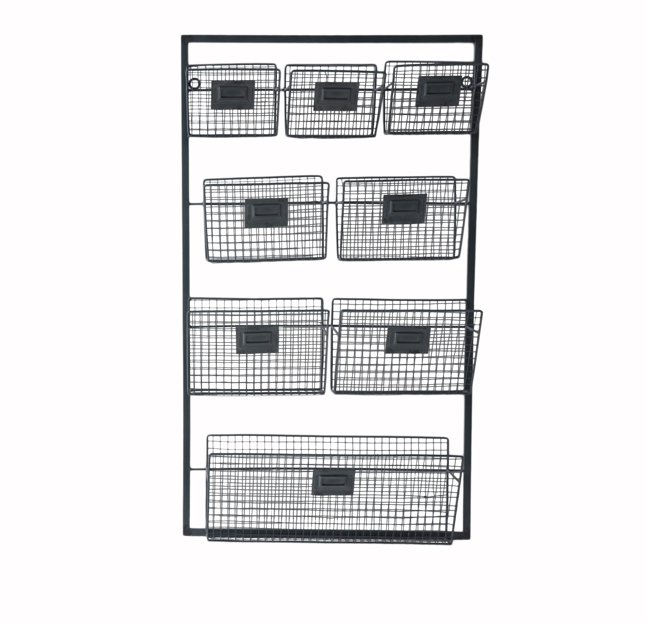 Cheung's FP-4113 Metal Wall Organizer with 8 Slots