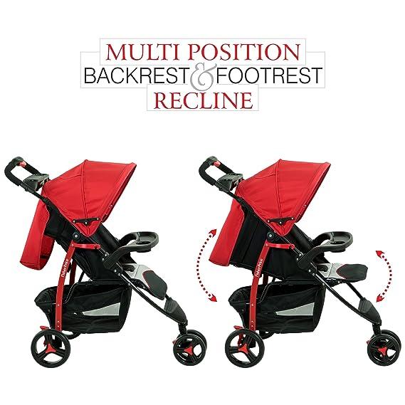Fisher-Price Rover Steel Stroller Cum Pram (Red)