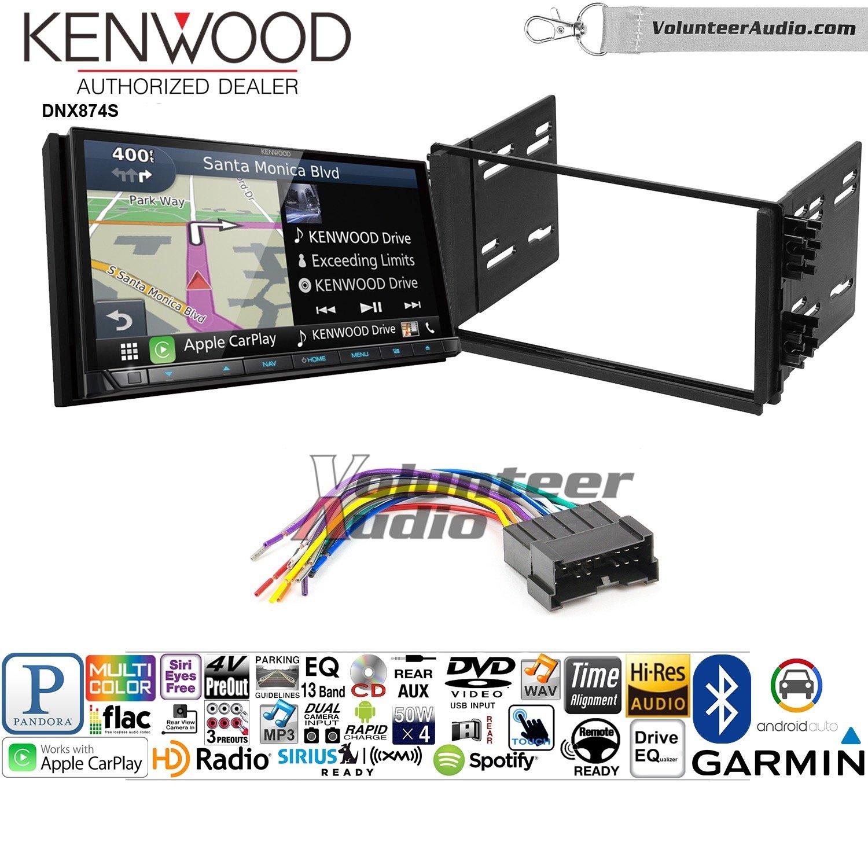 ボランティアオーディオKenwood dnx874sダブルDINラジオインストールキットwith GPSナビゲーションApple CarPlay Android自動Fits 2001 – 2005 Kia Optima、2003 – 2005 Rio B07BZ6QL8Y
