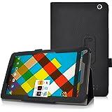 All New neoCore E1 10.1 / neoCore N1 10.1 case, KuGi ® All New neoCore E1 10.1 / neoCore N1 10.1 case - Multi-Angle Stand Slim-Book PU Leather Cover Case for All New neoCore E1 10.1 / neoCore N1 10.1 tablet.(Black)