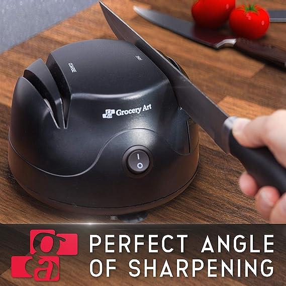 Amazon.com: Afilador de cuchillos eléctrico 3 en 1 – Máquina ...