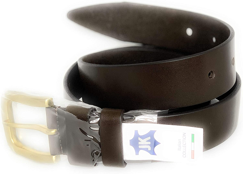 JK Brands Mens leather belt brown