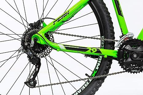 Moma Bikes Mtb29 Peak L Bicicleta de Montaña, Frenos de Disco hidraulicos, 27V, Unisex Adulto, Verde: Amazon.es: Hogar