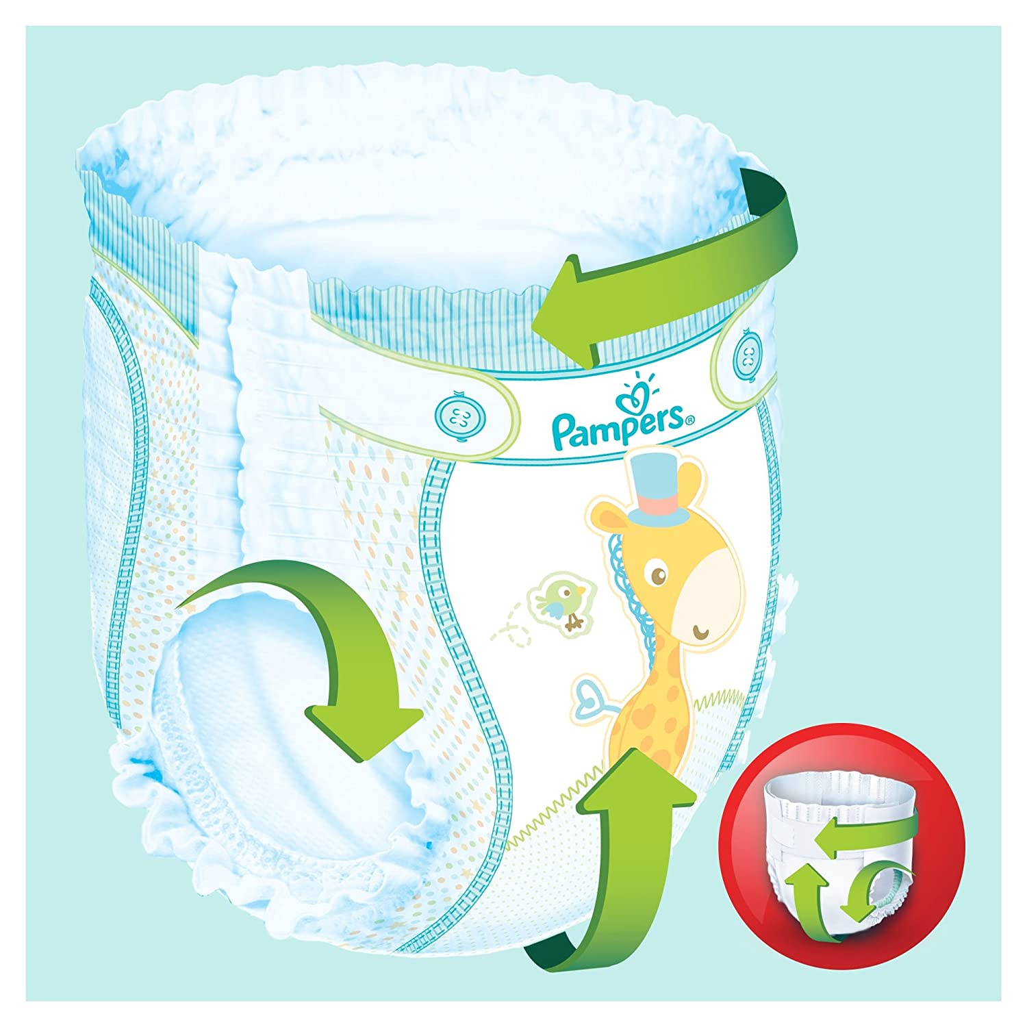 - Mega+ Pack Couches-culottes Taille 6 +15 kg x76 culottes Baby Dry Pants Pampers