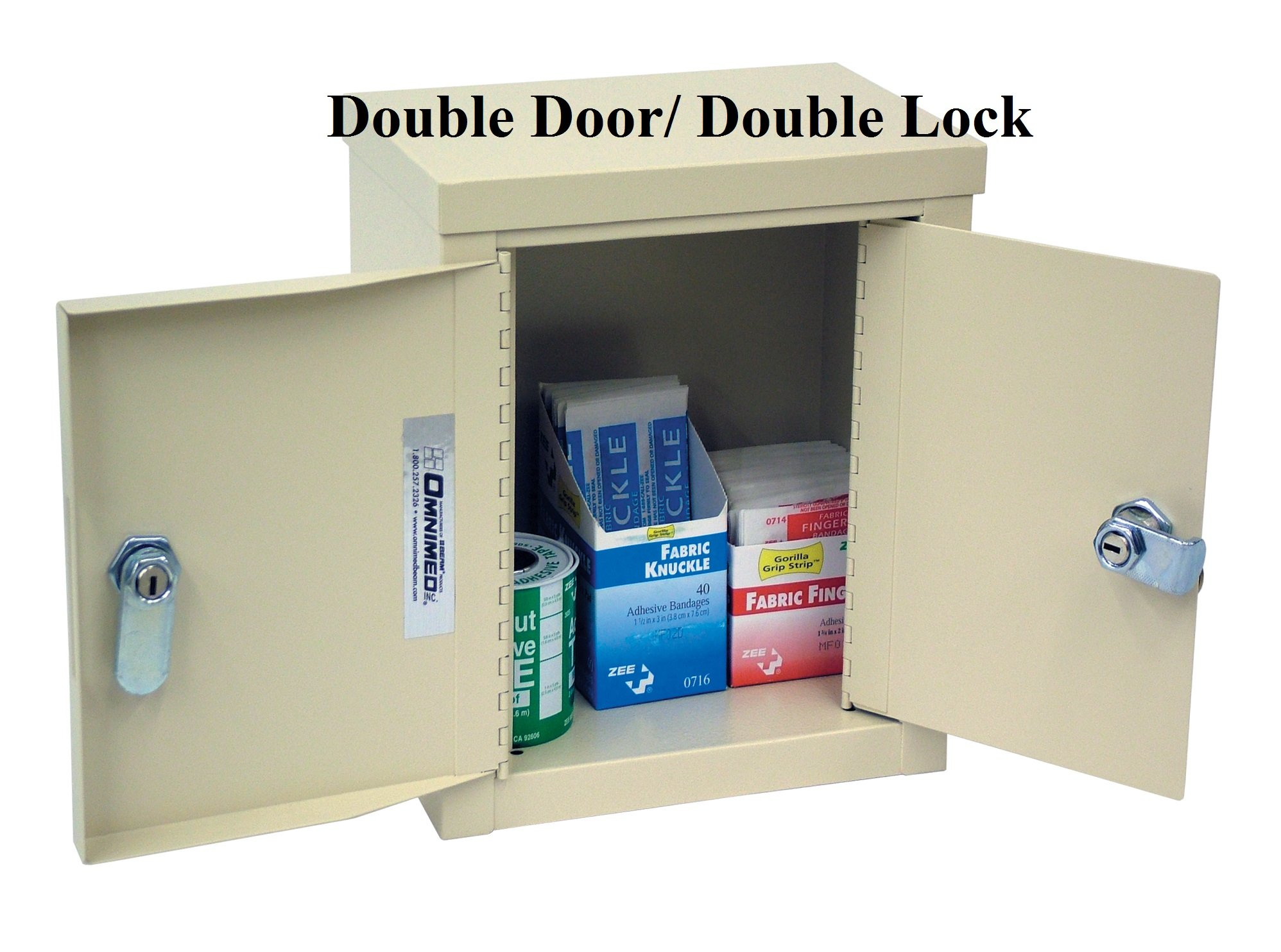 Double Door Mini Economy Narcotic Cabinet (9''H X 8''W X 5.75''D)