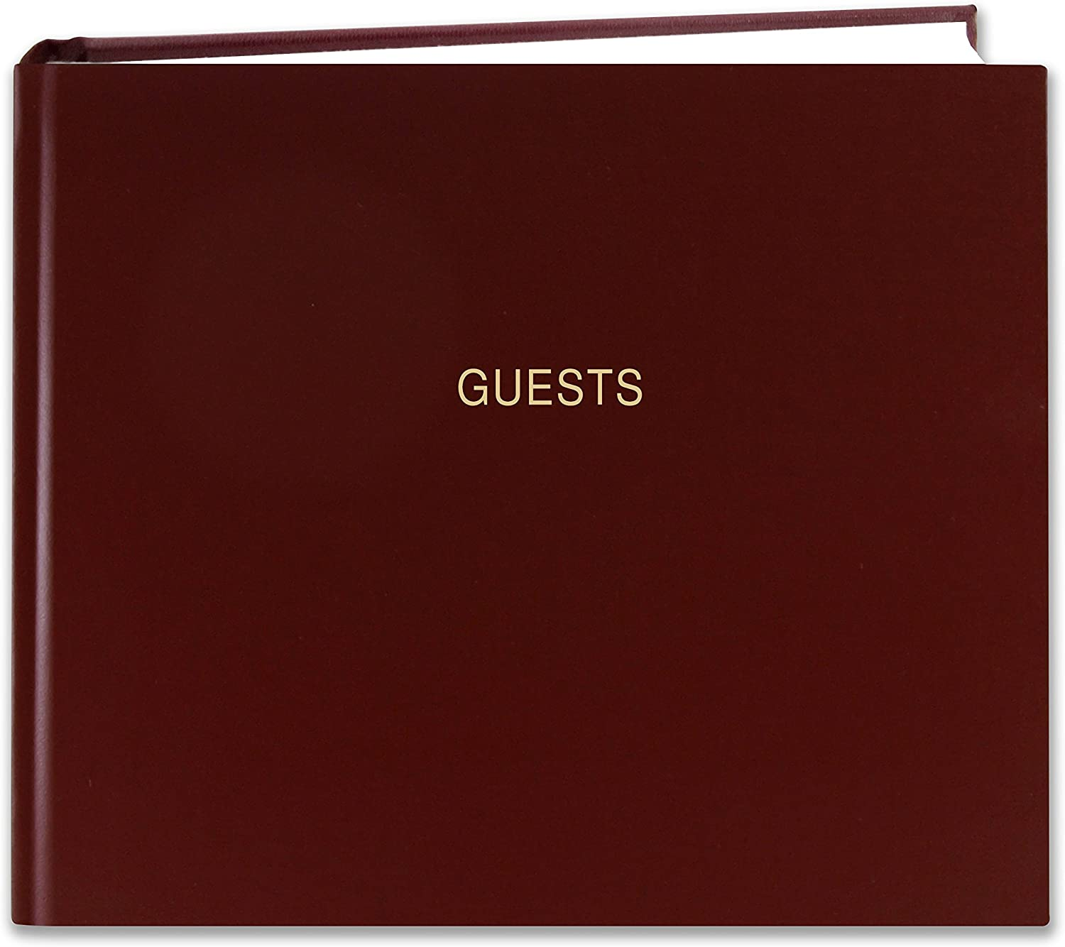 "BookFactory Guest Book (120 Pages) / Guest Sign-in Book/Guest Registry/Guestbook - Burgundy Cover, Smyth Sewn Hardbound, 8 7/8"" x 7"" (LOG-120-GUEST-A-LMT25)"