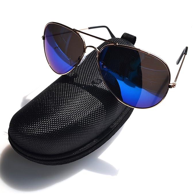 Aviator Sonnenbrille - Doppelte Brücke Metall Pilot Sonnenbrille Männer und Frauen Uv400 Linsen Aviator Sonnenbrille für Außen Sport, Fischen, Golfen und Fahren (Braun)