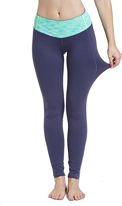 6a123640cd FIR TREE Women's Basic Color Tummy Control Fitness Sport Pants with Back  Pocket CK208-B