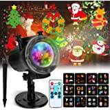 Christmas Projector Lights Elfeland Thanksgiving Projector Light with 12 Ocean Wave Patterns Christmas Projector with…