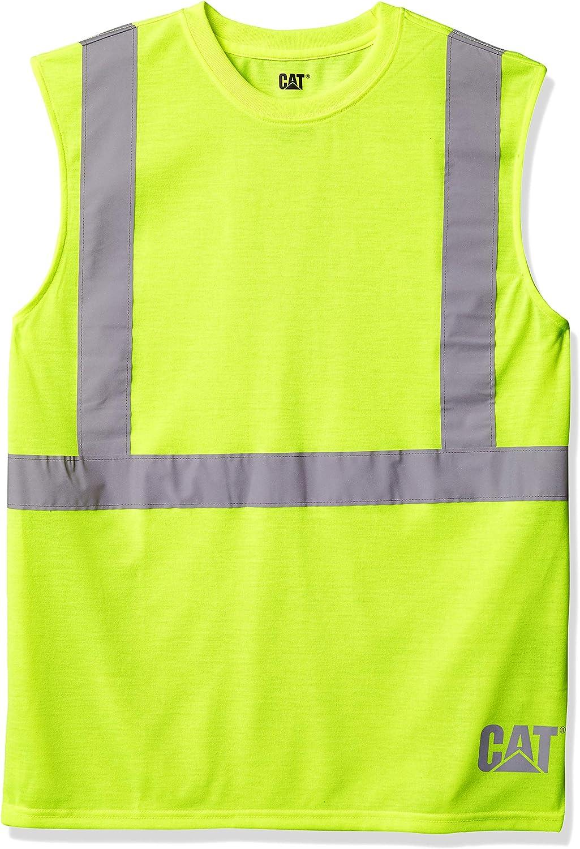 Caterpillar Mens Hi-vis Sleeveless T-Shirt Regular and Big /& Tall Sizes