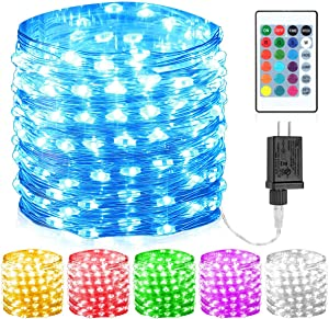GDEALER 100 Led 16 Colors String Lights Multi Color Change String Lights Remote Fairy Lights with Timer 33ft Firefly Twinkle Lights for Bedroom Party Wedding Halloween Christmas Decor