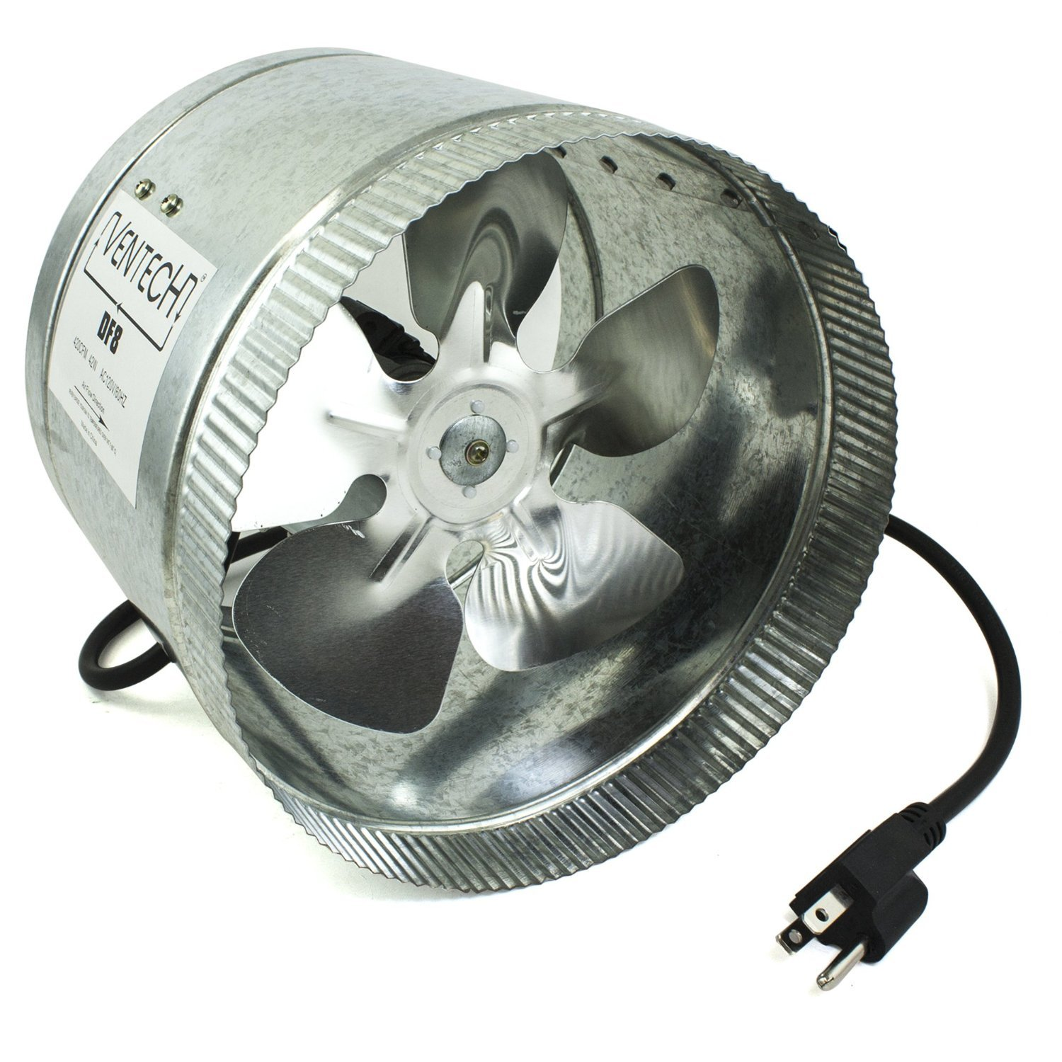 "VenTech VT DF 8 DF8 Duct Fan 420 CFM 8"" Built In Household"
