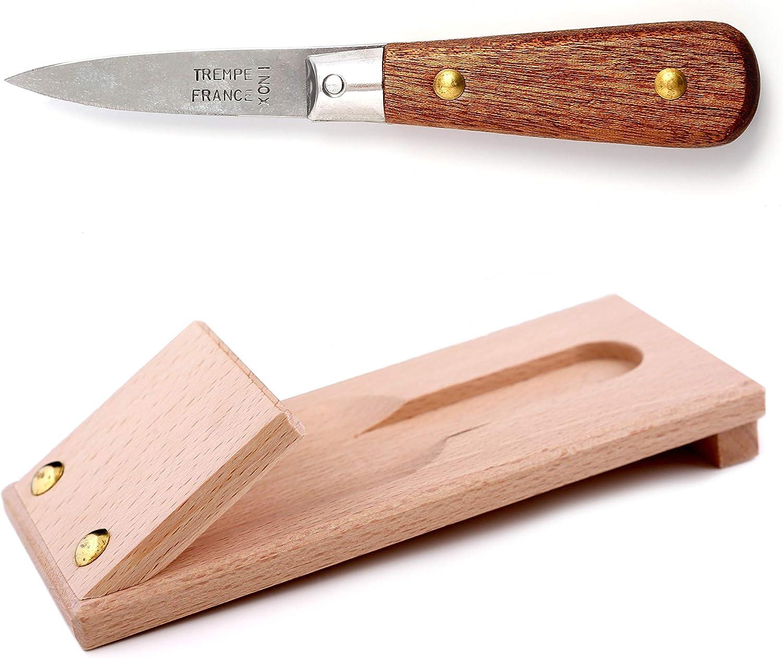 manche en bois fabriqué à la main à Thiers Couteau à Huîtres Cleminson